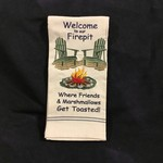 Welcome To Our Firepit Tea Towel