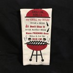 Grillin Rules Tea Towel