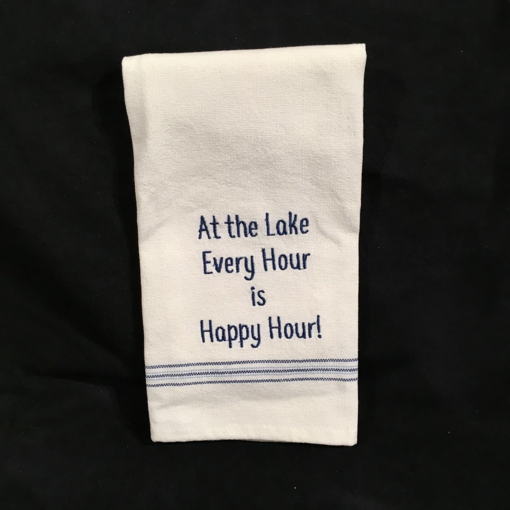 **Every Hour At The Lake Tea Towel
