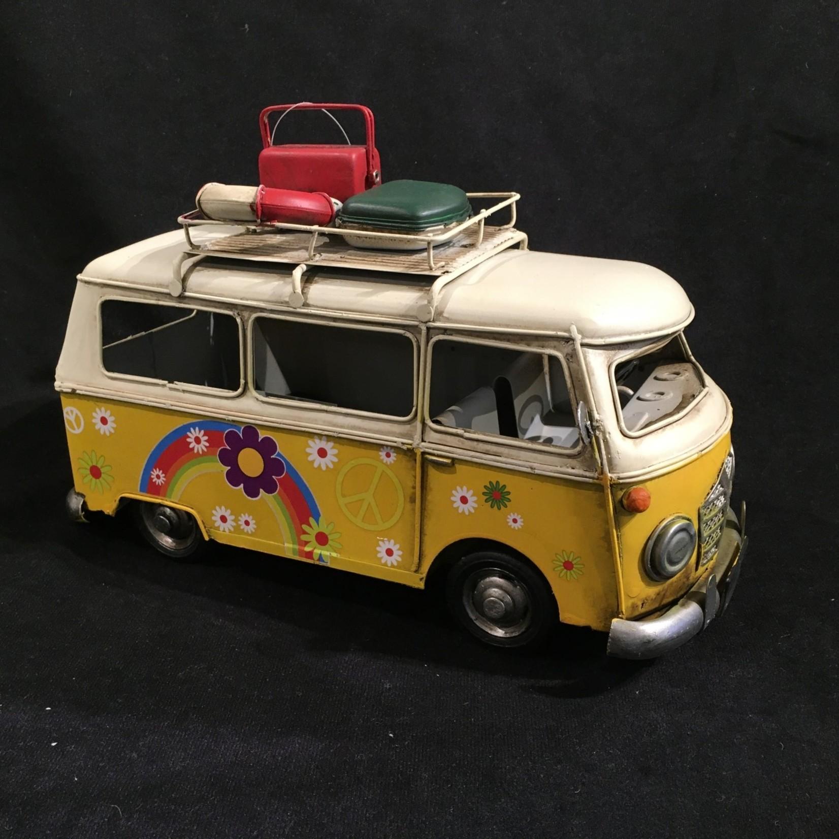 """11x7"""" Yellow  Metal Bus"""