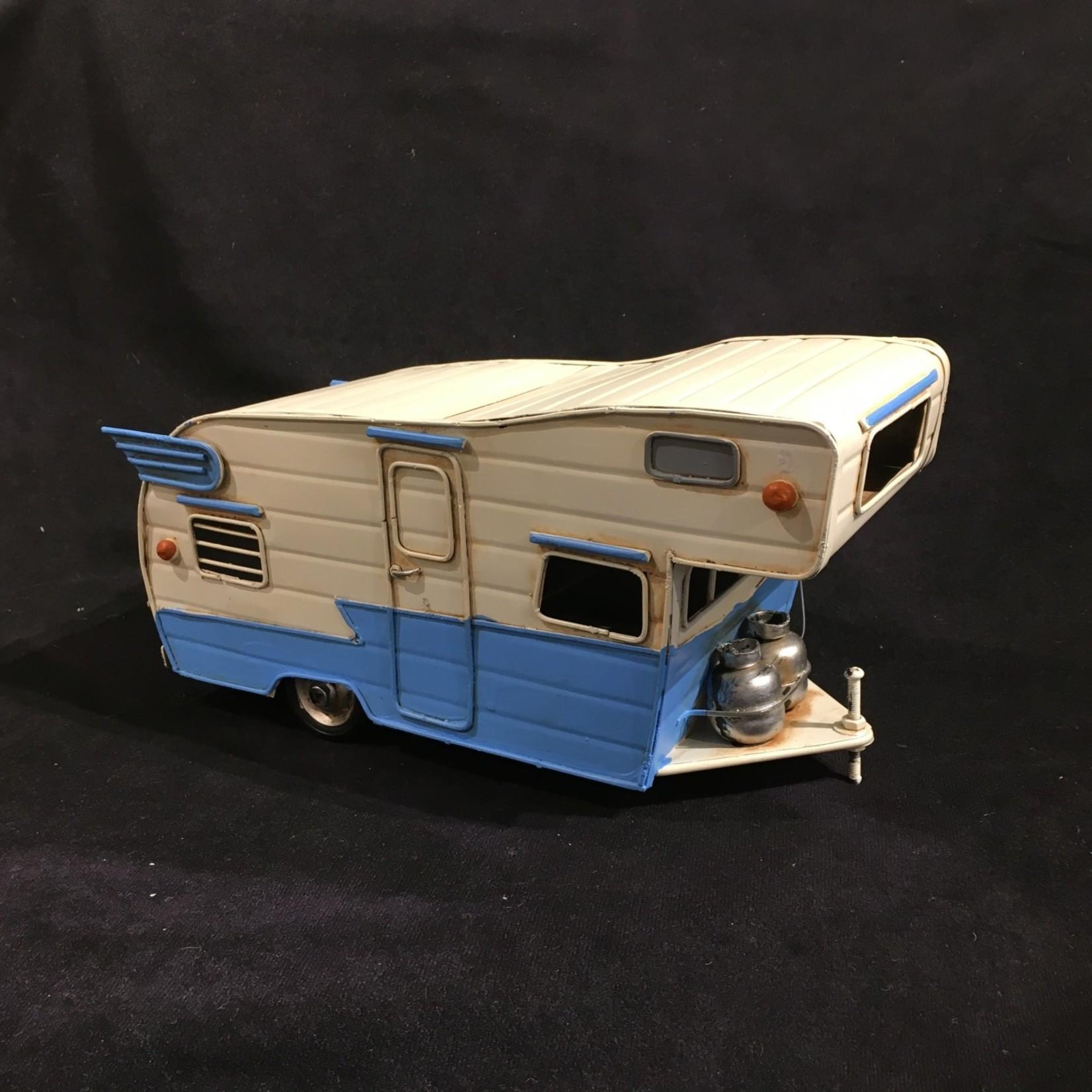 """10.5x5"""" Blue & White Beach Wagon"""