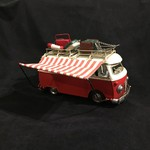 "11x7"" Red Metal Camper"