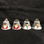 **Santa/Snowman Metal Bell Orn. 4A
