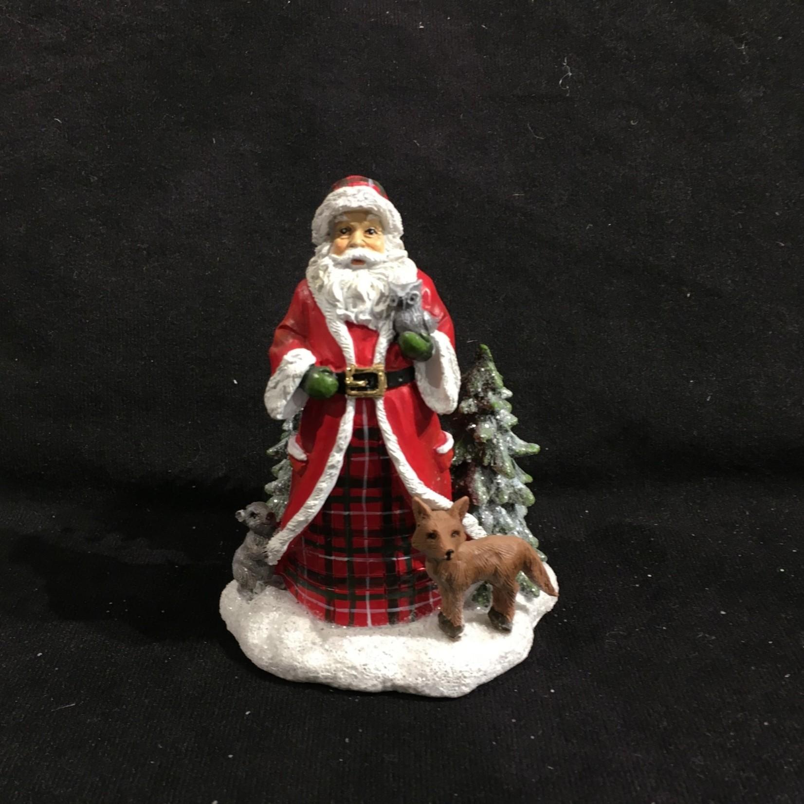 "**4.5"" Santa Mini Scene Figurine 2A"