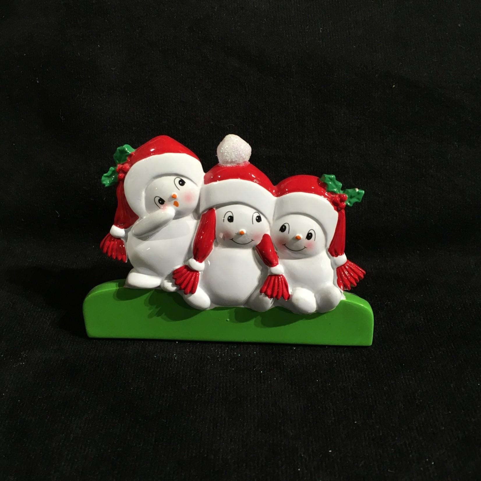 "3""  TT Snowman Family - 3"