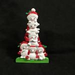 "6.5"" TT Snowman Family - 6"