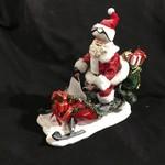 """12"""" Santa on Snowmobile Figurine"""