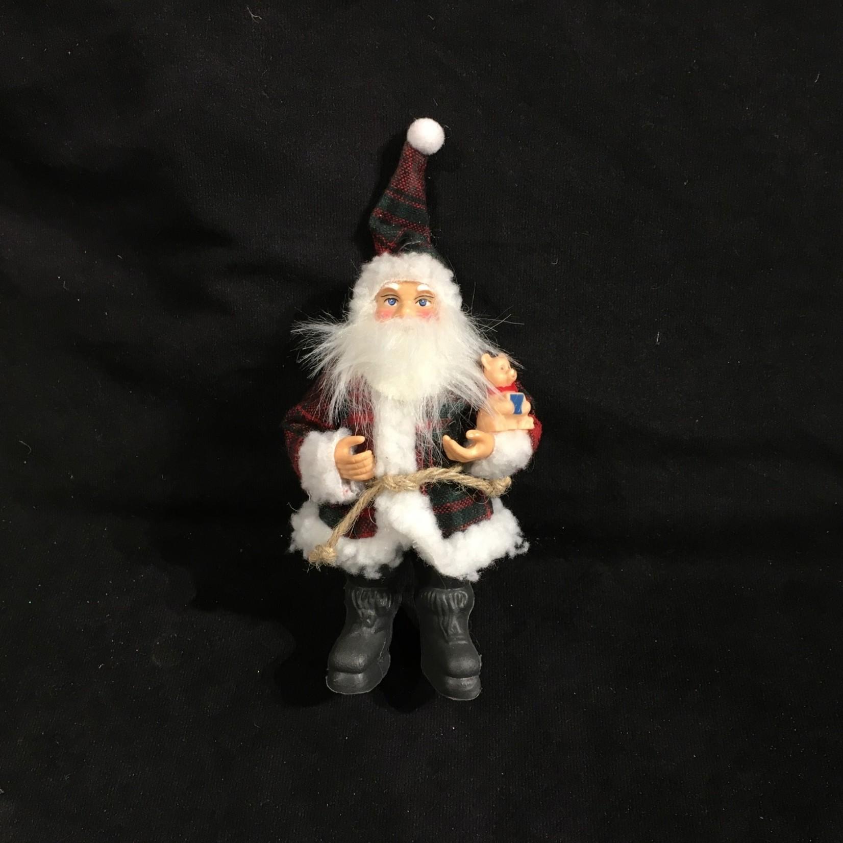 """**8"""" Santa in Plaid Suit 2A"""