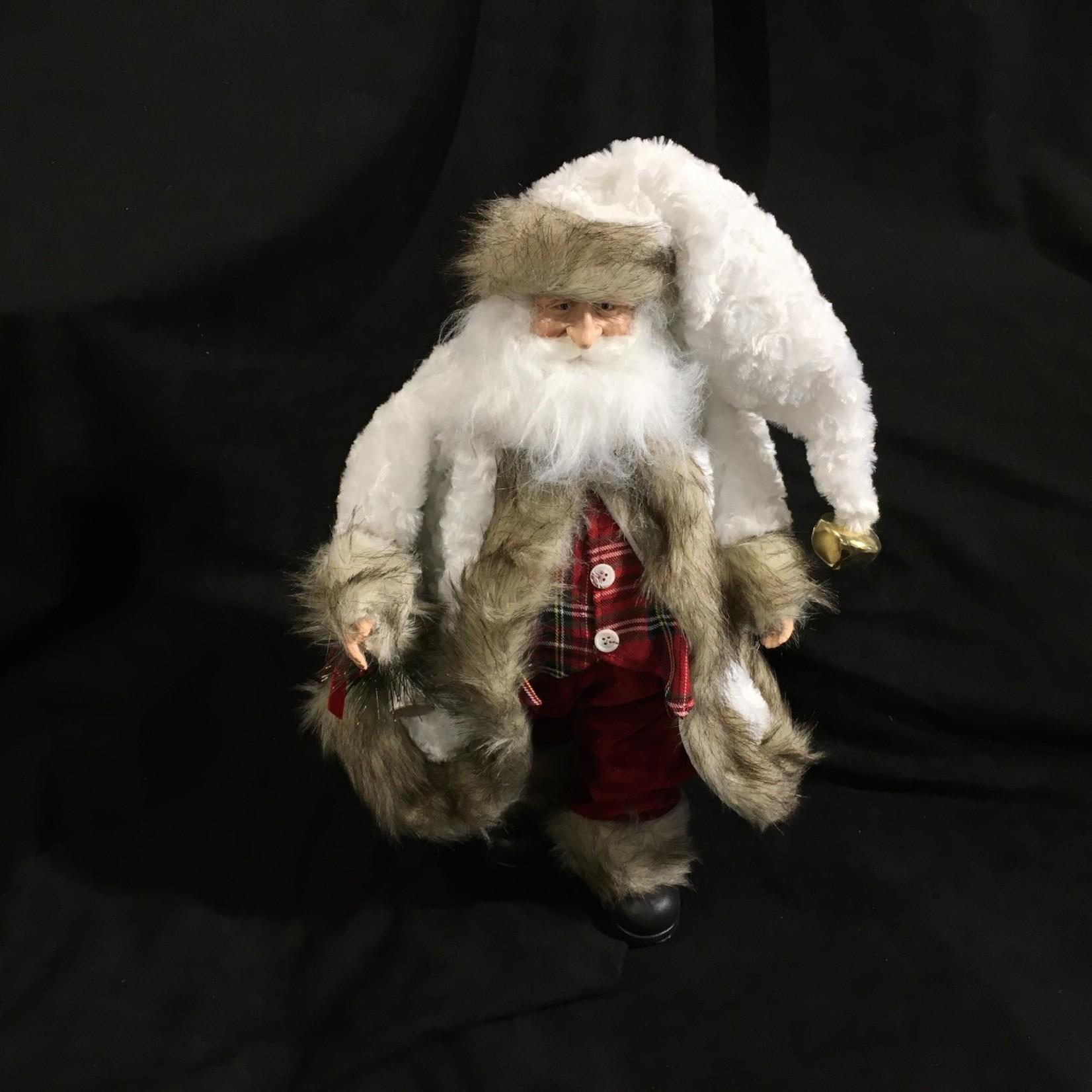"""**18"""" Santa with Plaid Vest"""