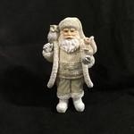 """7"""" Santa w/Owl & Squirrel Figurine 2A (no box)"""