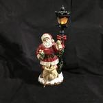 "18"" Victorian Santa w/LED Lamp Post"