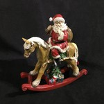 "11x12"" Santa on Rocking Horse"