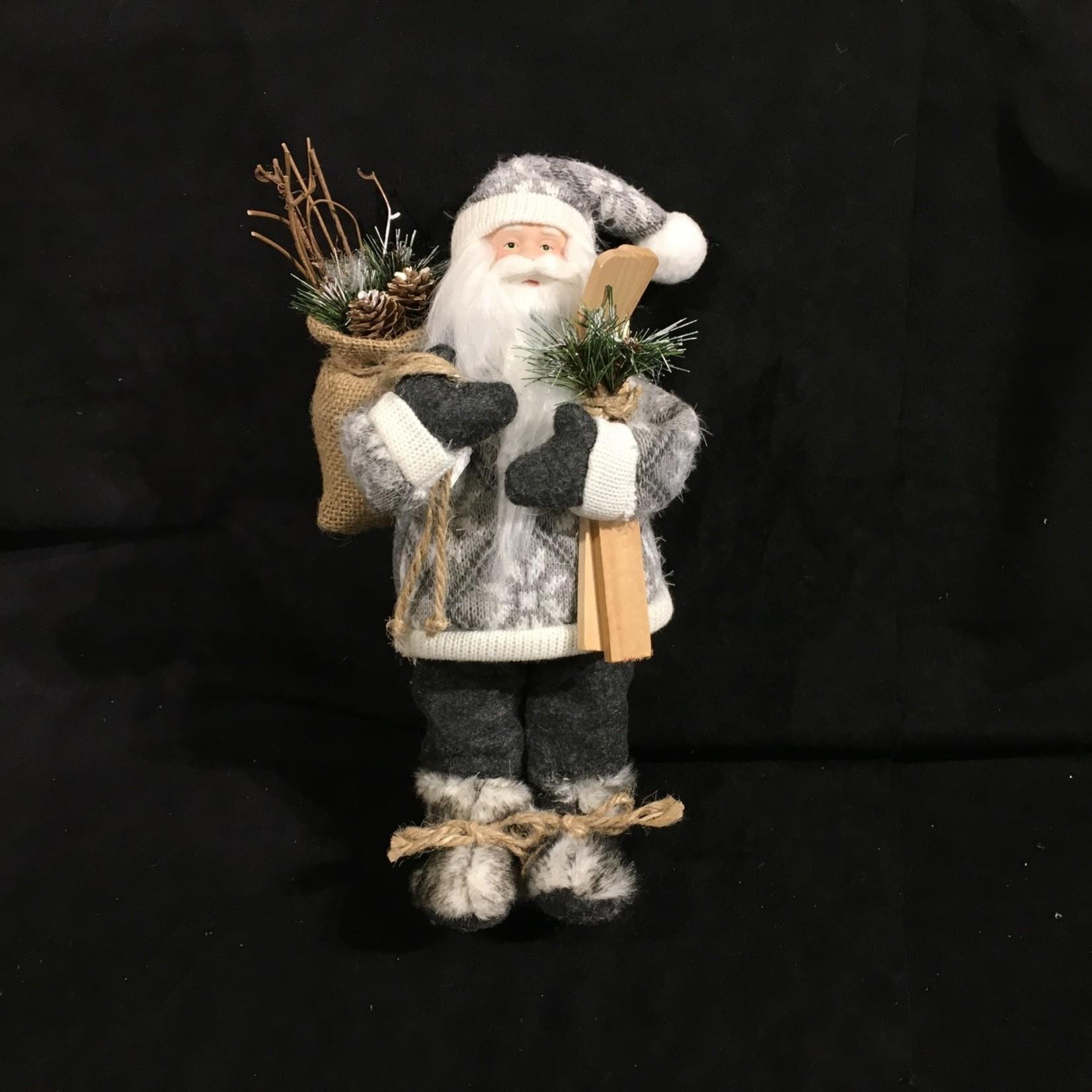 "12.5"" Gray/White Nordic Santa (no box)"