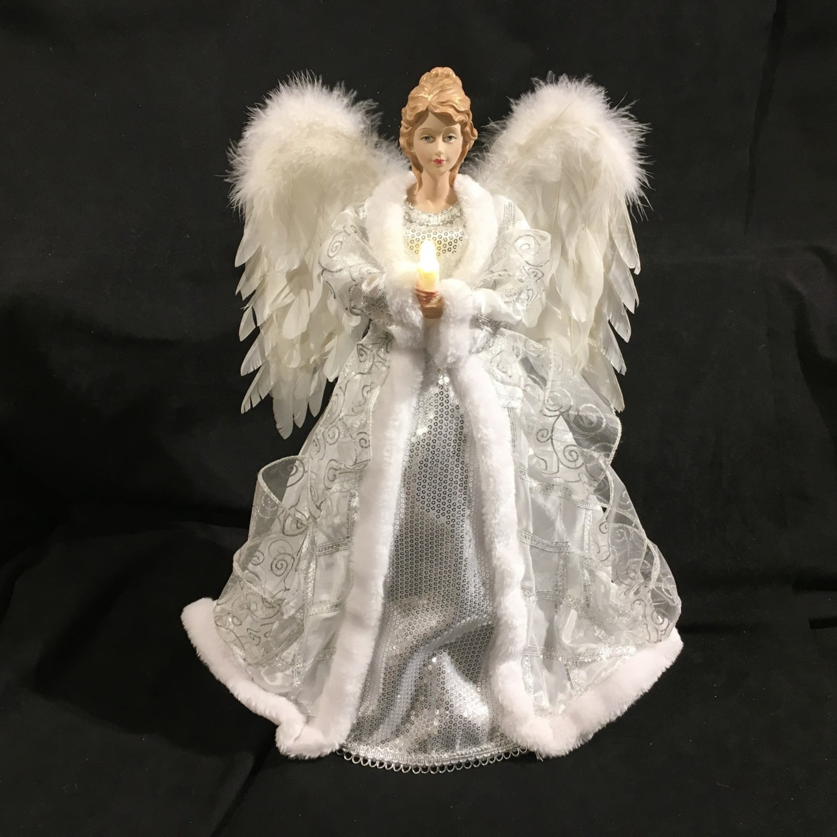 """20"""" LED Angel Tree Topper w/Candle"""