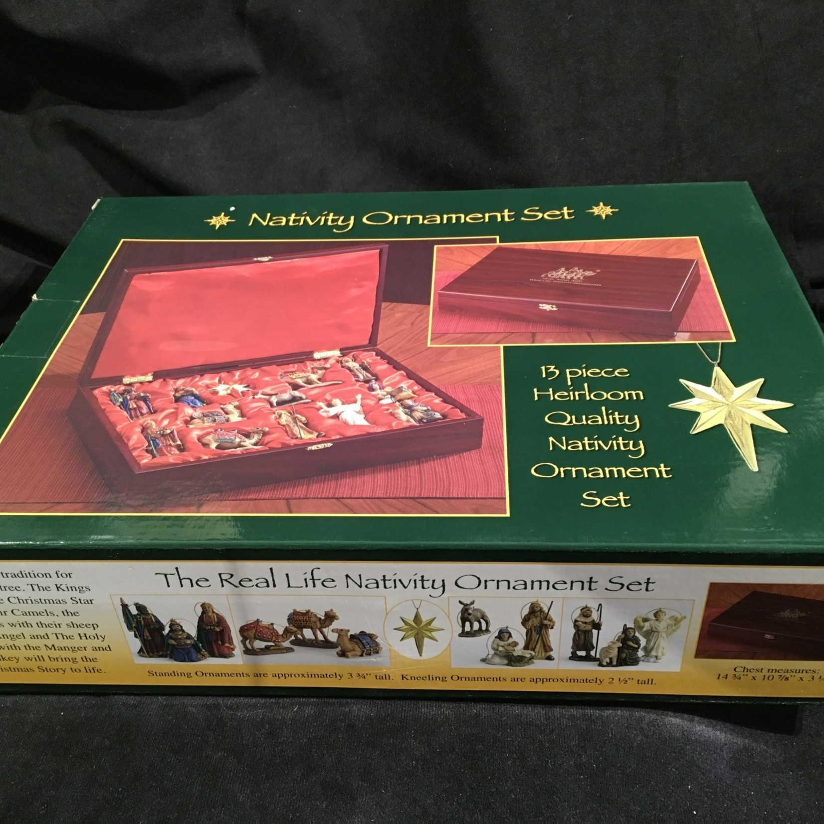 Heirloom Nativity Ornament Set (13 pcs in Chest)