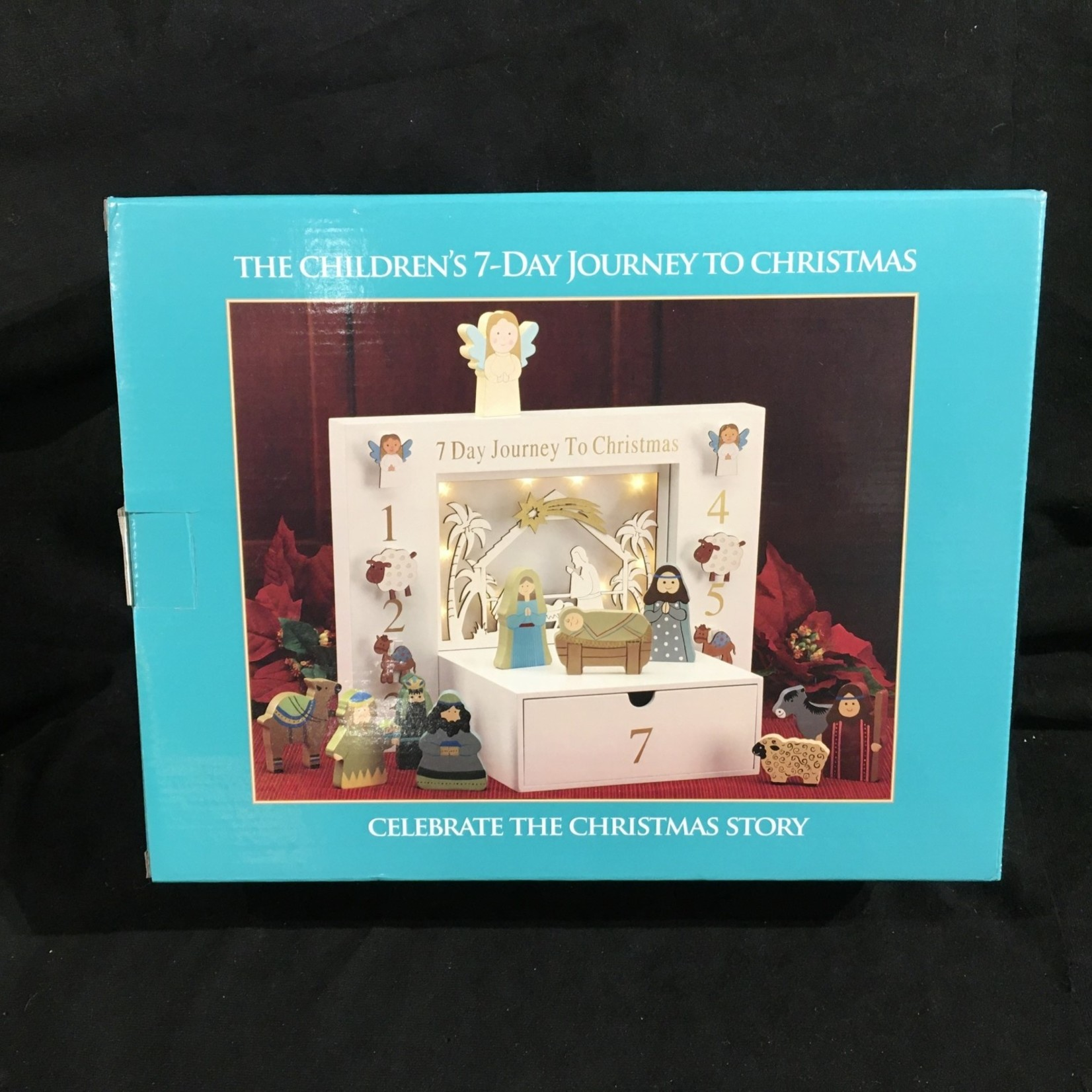 "13.75x10.5"" Children's 7 Day Journey Nativity (12 pcs)"