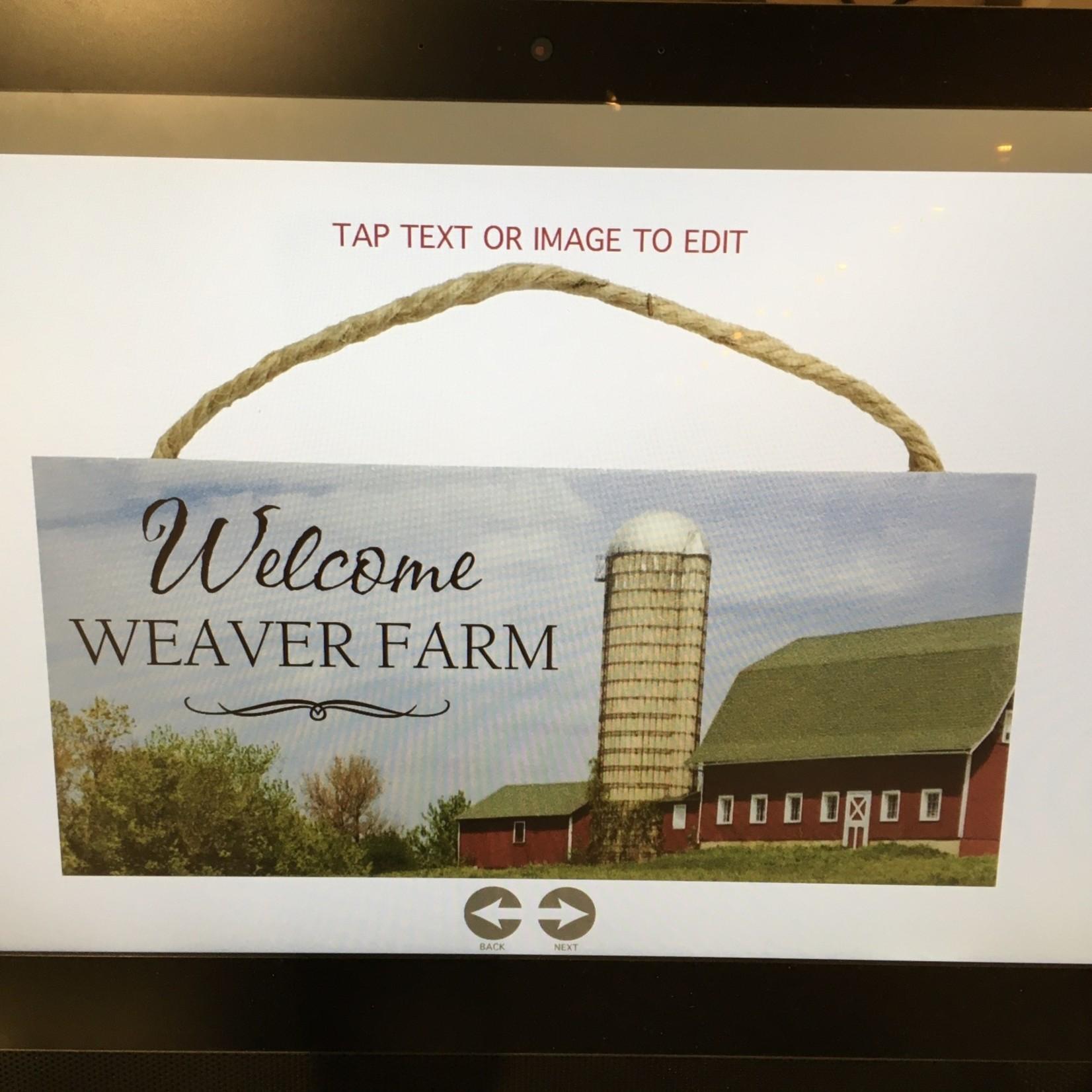 """10x4.5"""" Rectangular Hanging Sign - Farm"""