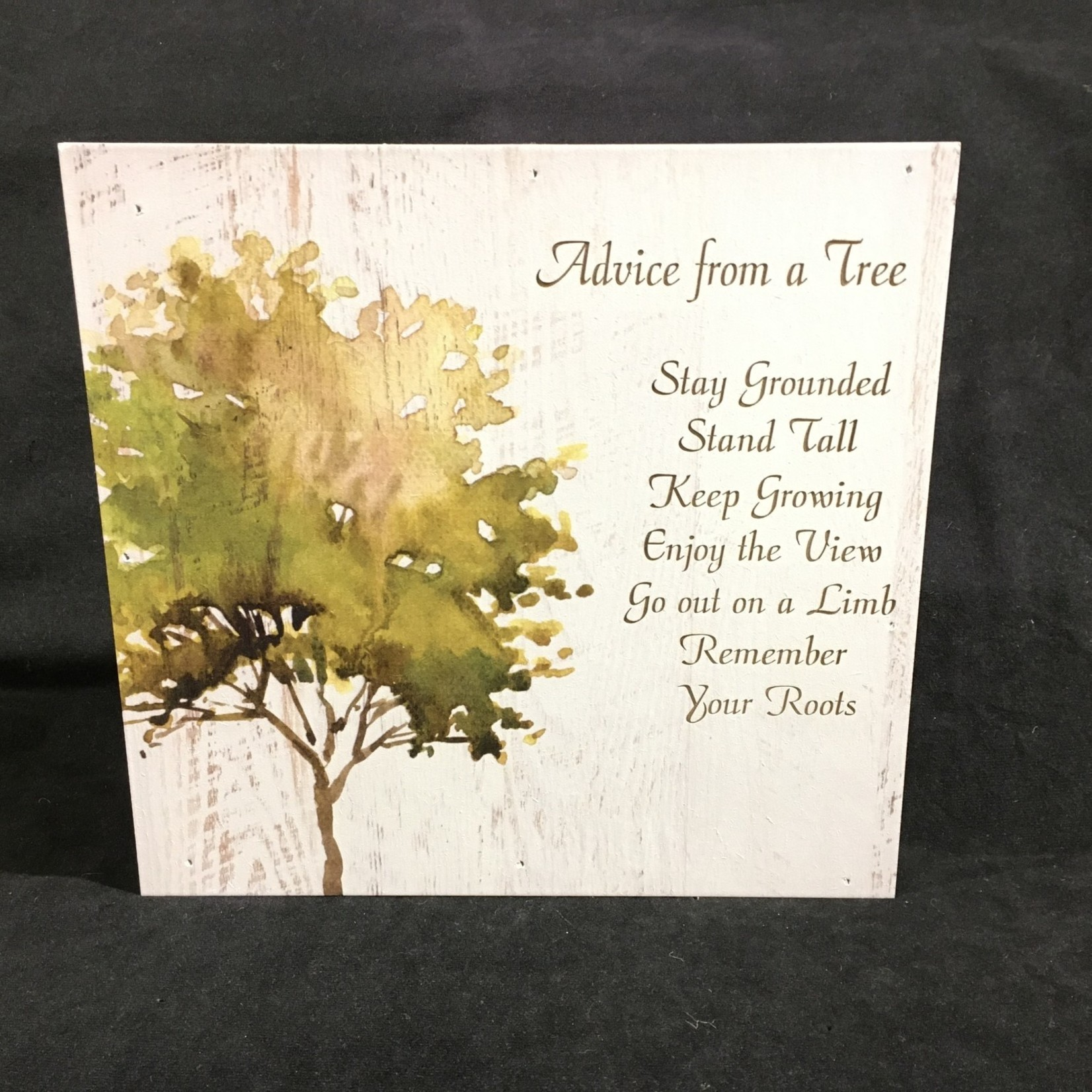 """Boxed Sign w/Tree 10x10"""""""