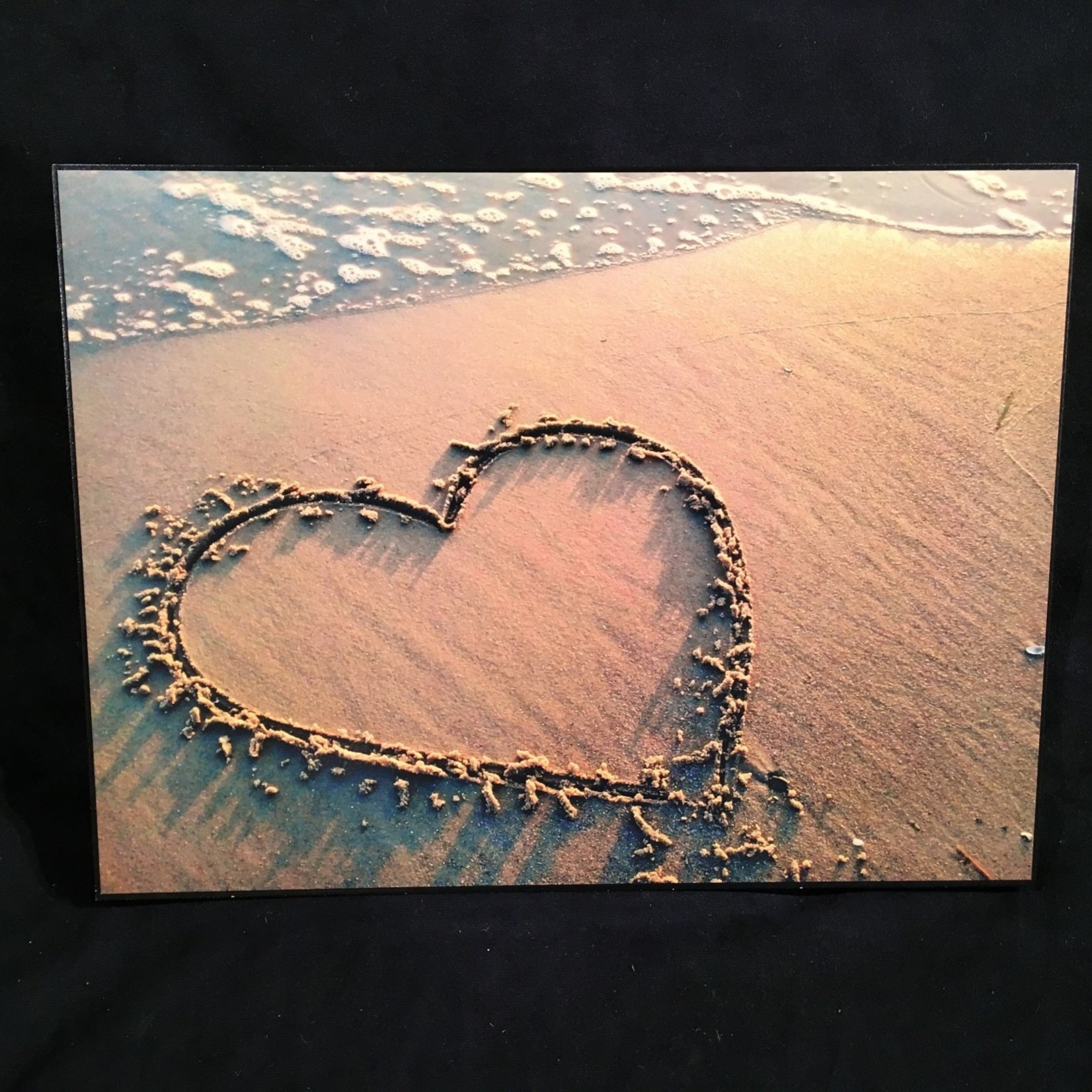 """Heart in the Sand 16x12"""""""