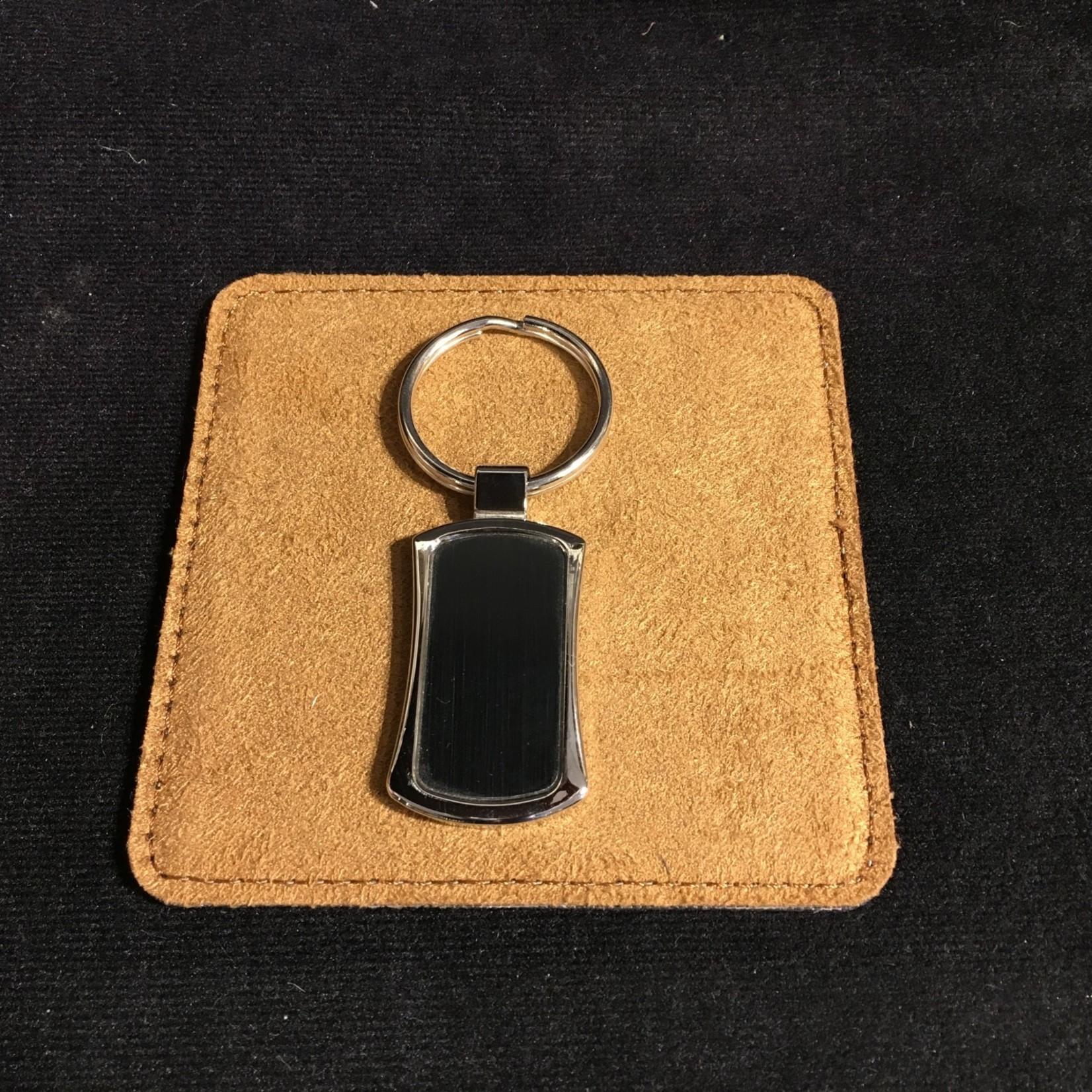 Black/Silver Keychain