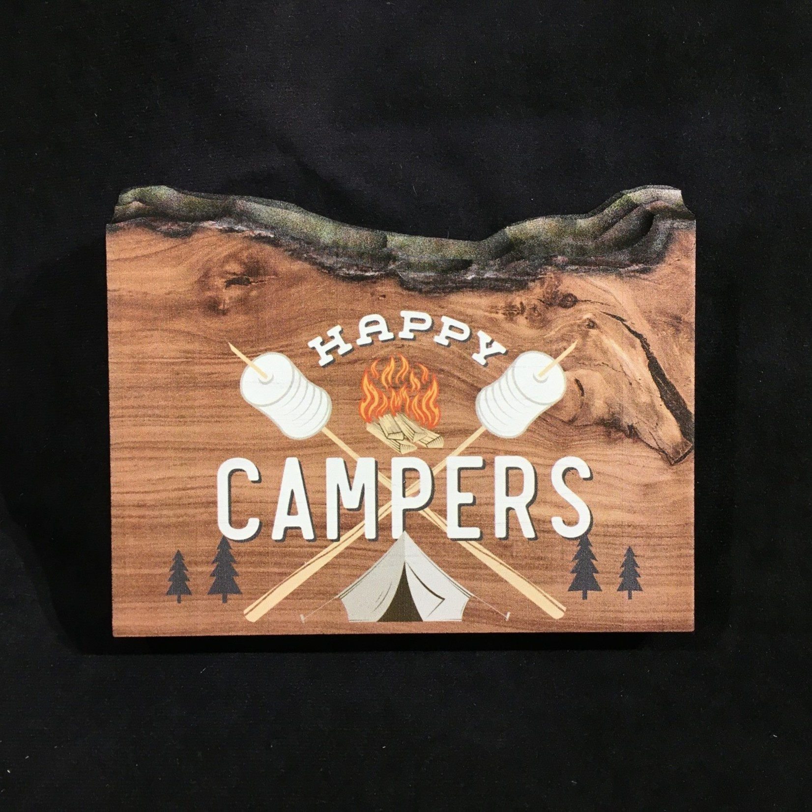 "Live Edge TT Happy Campers 7x5.5"""