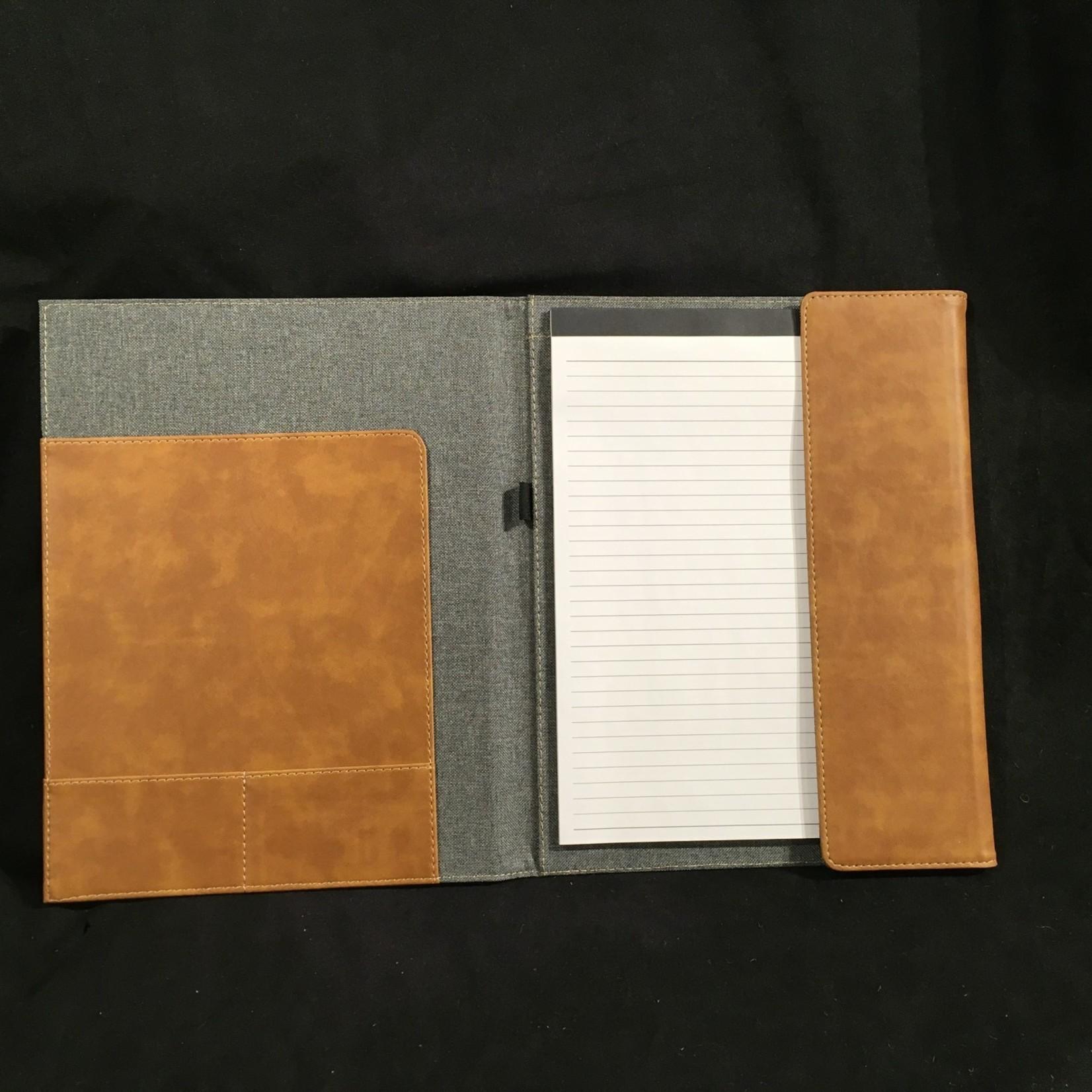 "Gray & Tan Padfolio (Large) 10x12.5"""