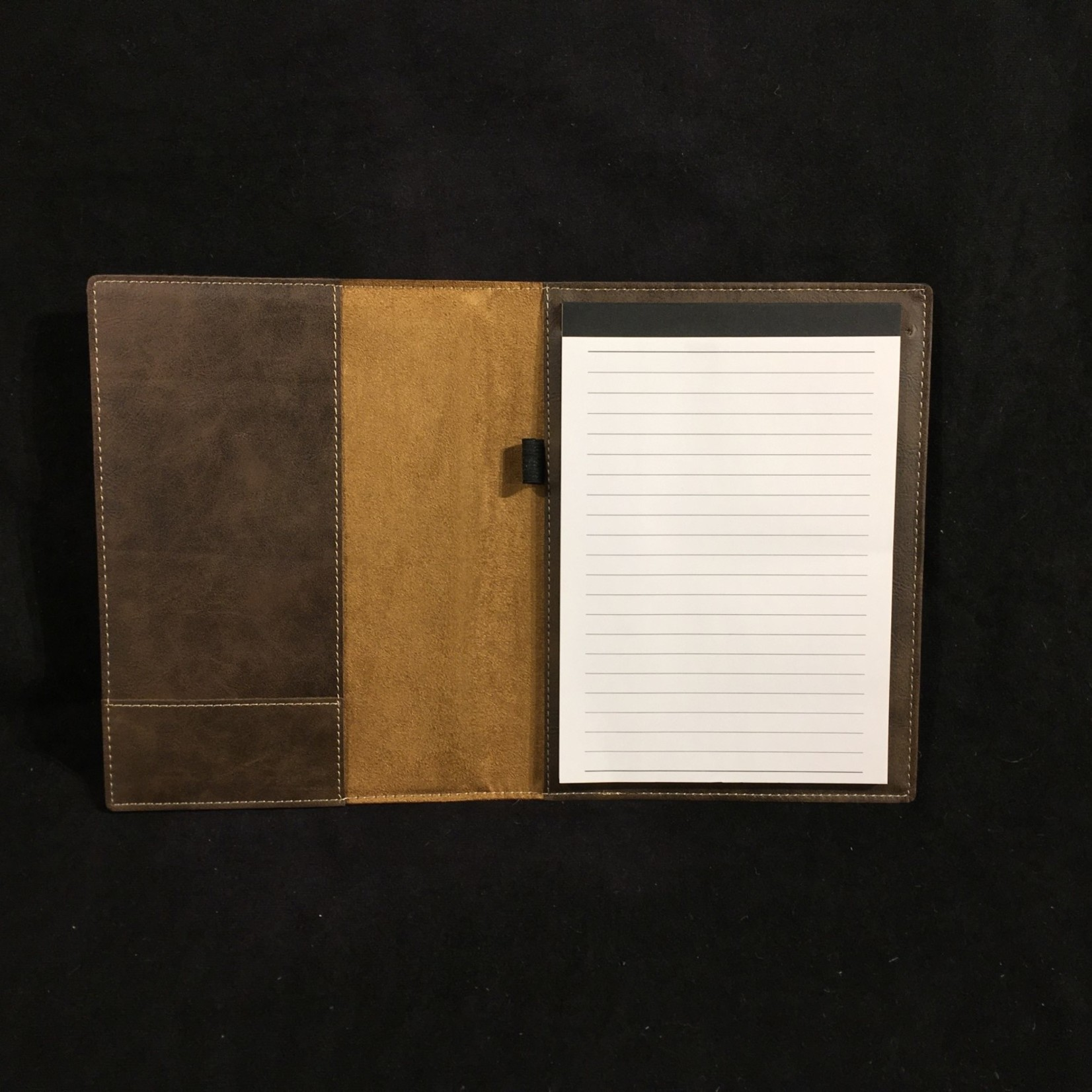 """Brown Faux Leather Padfolio 7x9"""""""