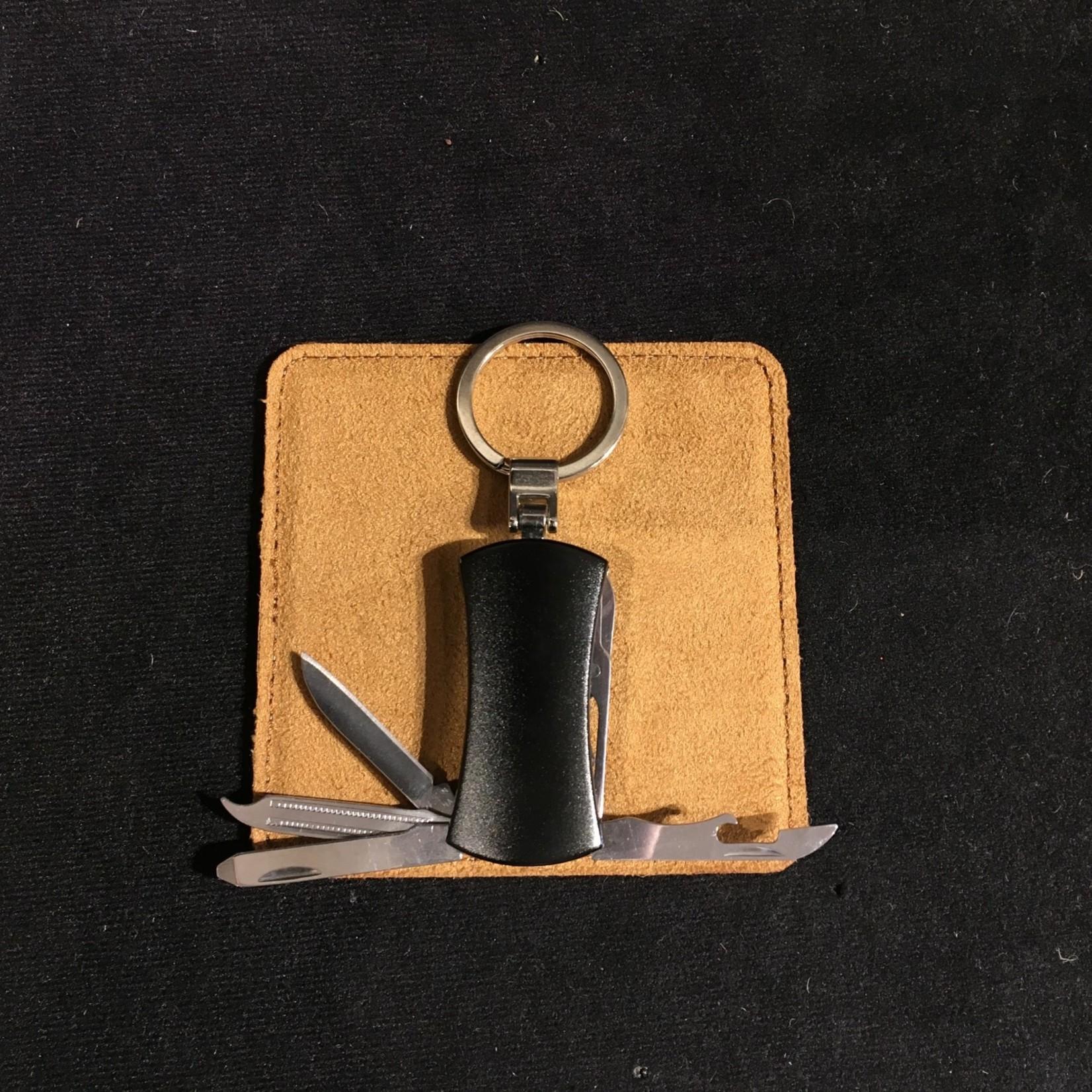 Keychain w/Multi Tool - Black