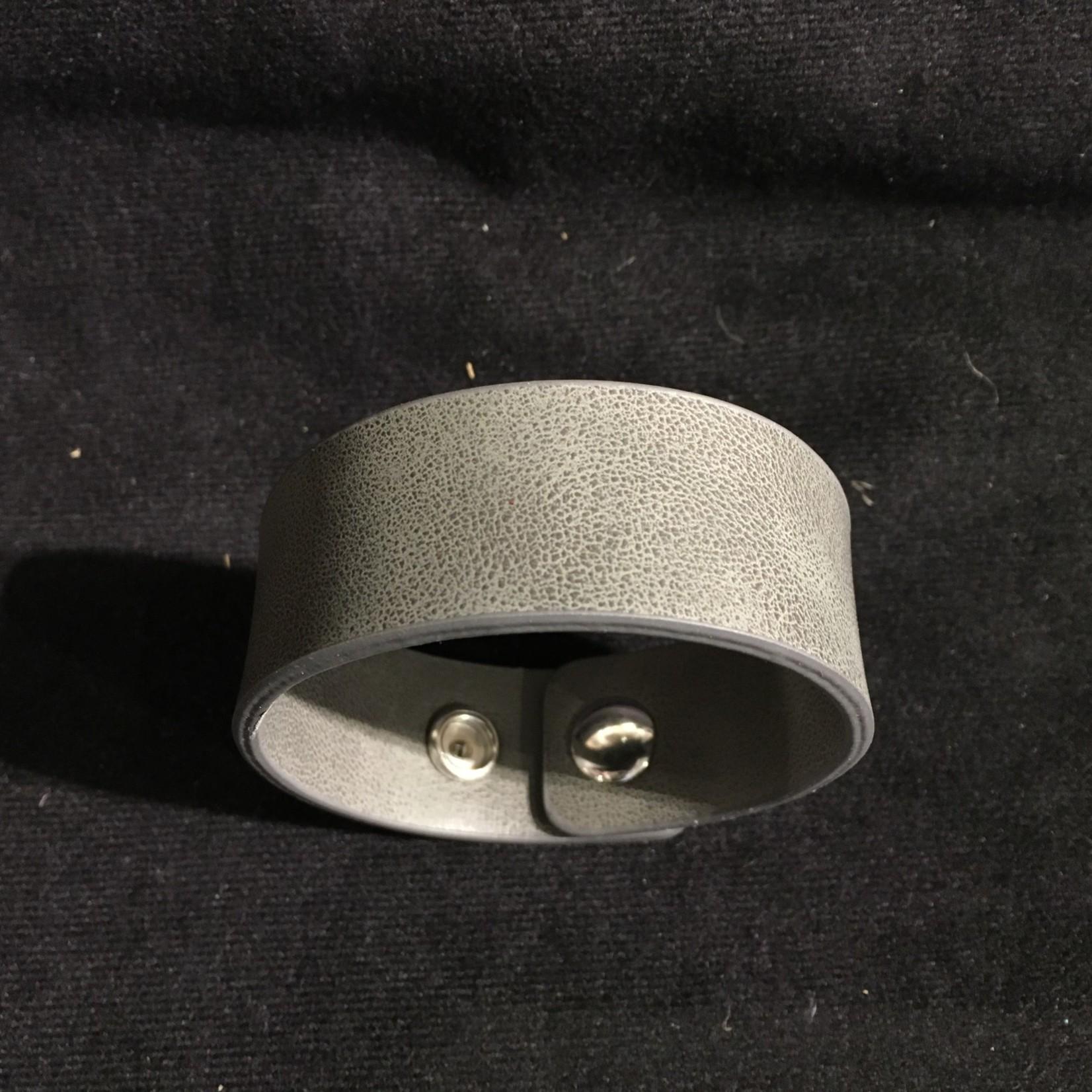 Faux Leather Bracelet - Gray
