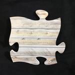 Puzzle Plaque - Multicolour Wood (No Photo)