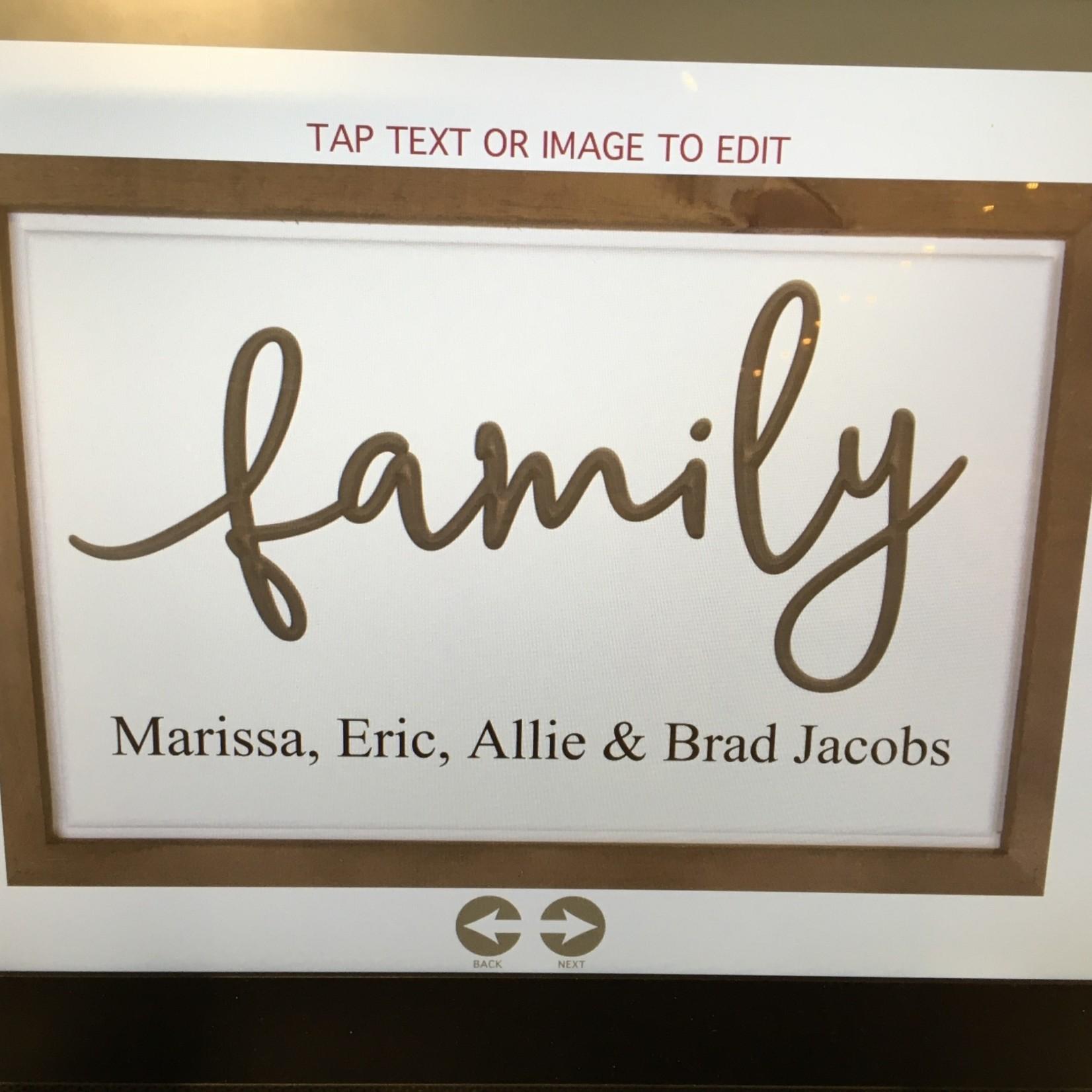 """Framed Family Sign 18x12"""""""