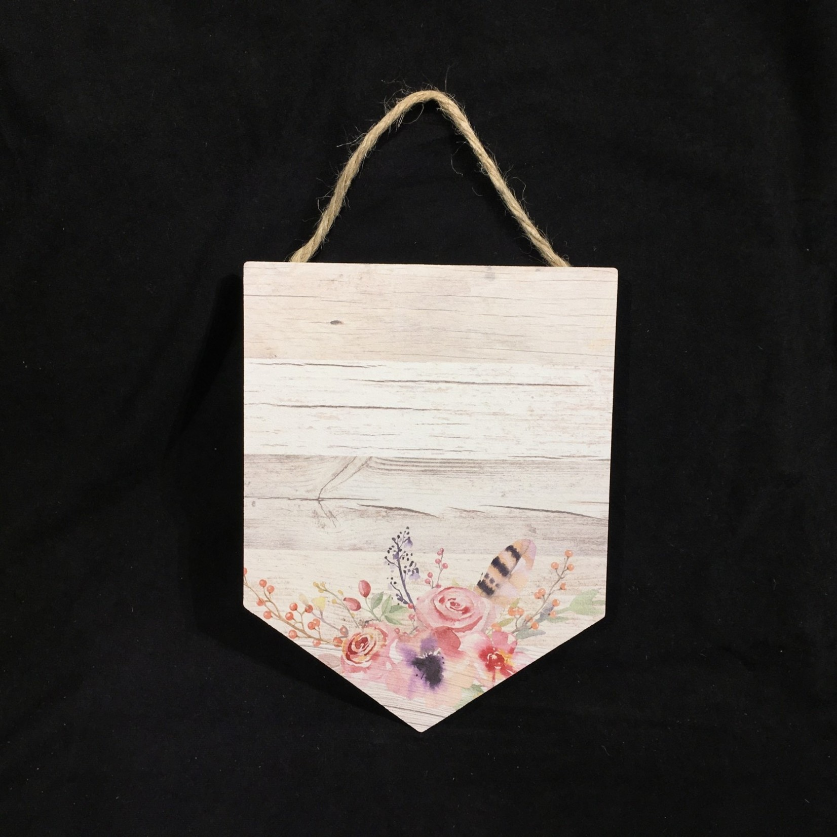 """Hanging Sign - White Floral 8.5x11"""""""