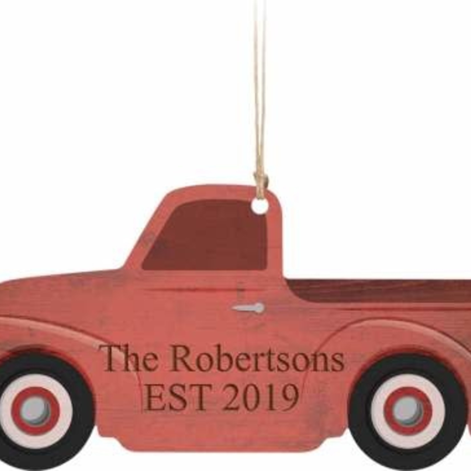 Personalized Red Truck Ornament