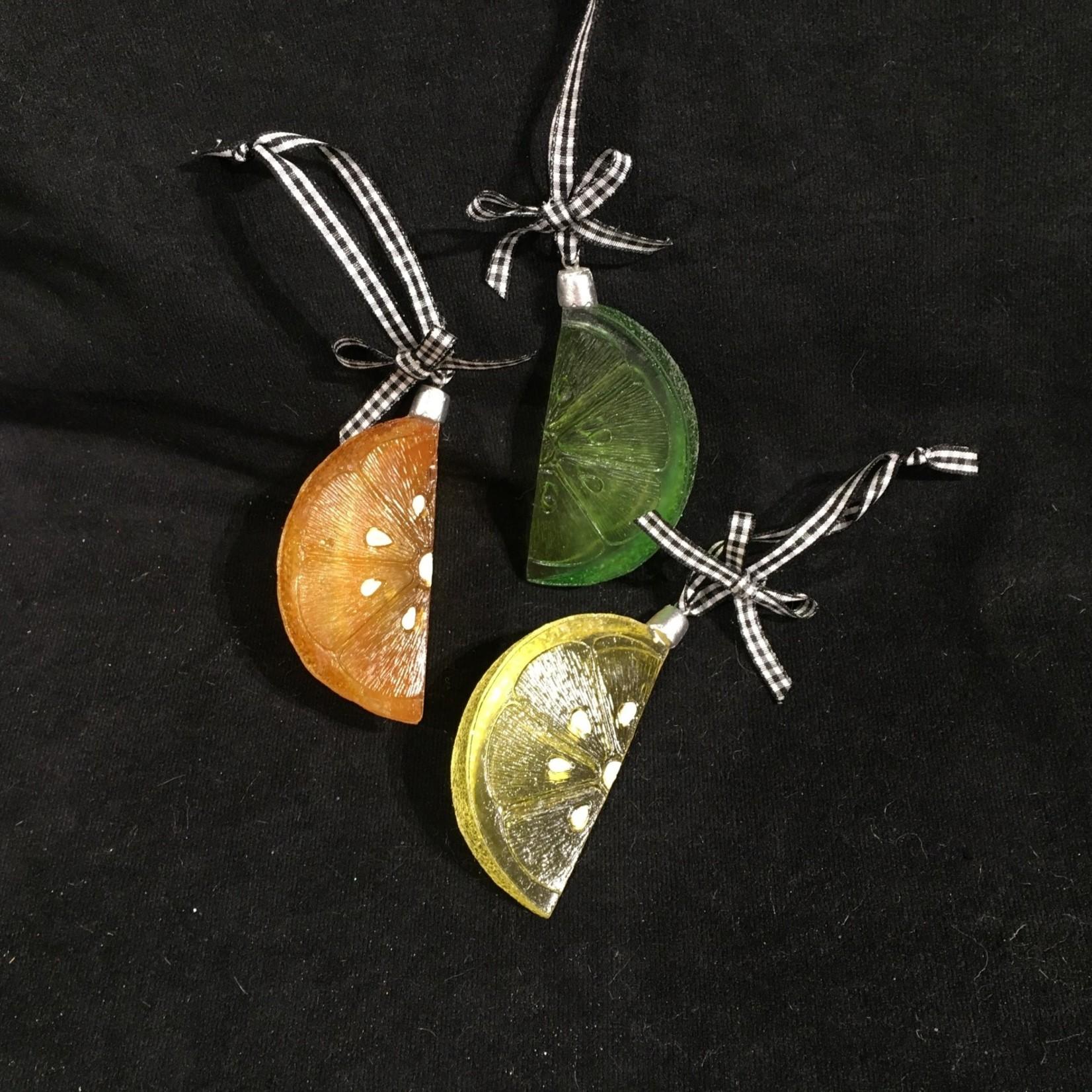 Lemon/Lime/Orange Slice Orn 3A