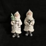 Winter White Santa Orn 2A