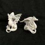 Silver/White Dragon Orn 2A