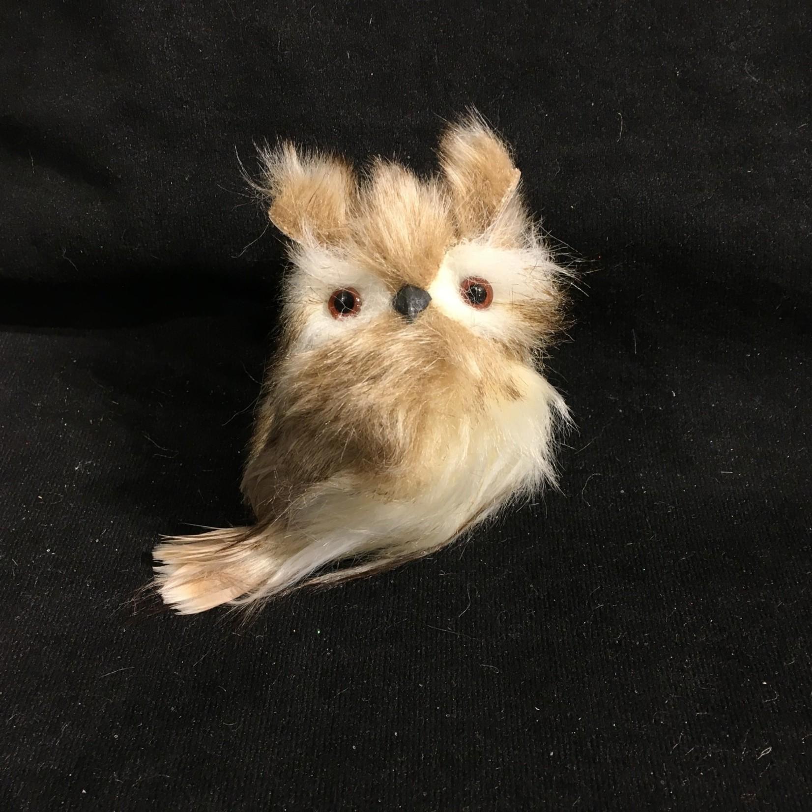 Brown w/White Fur Owl 3A