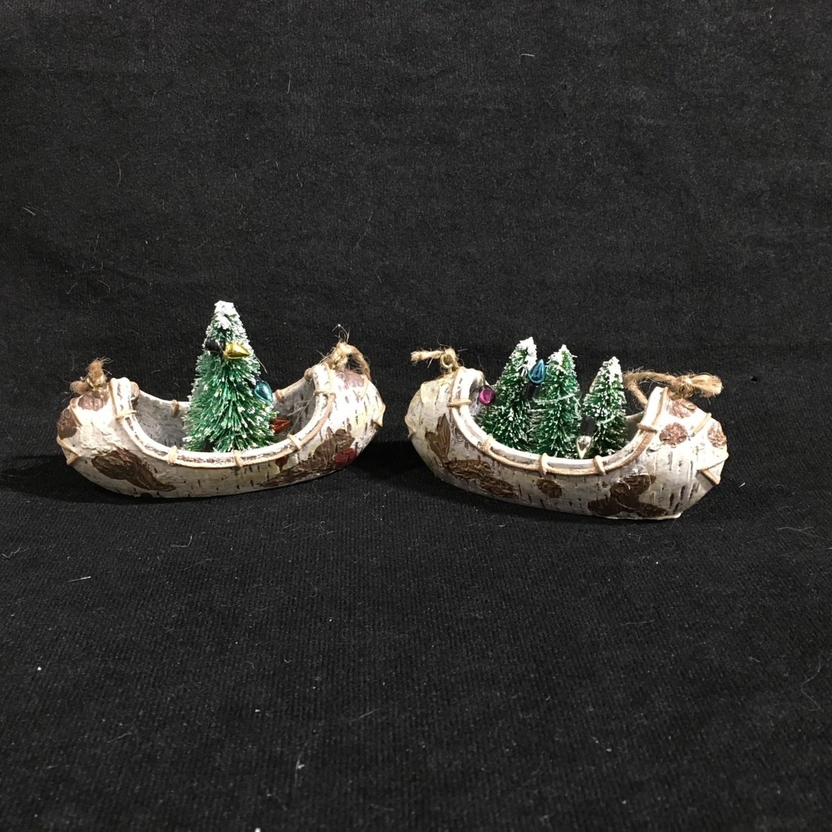 Canoe w/Tree Orn 2A