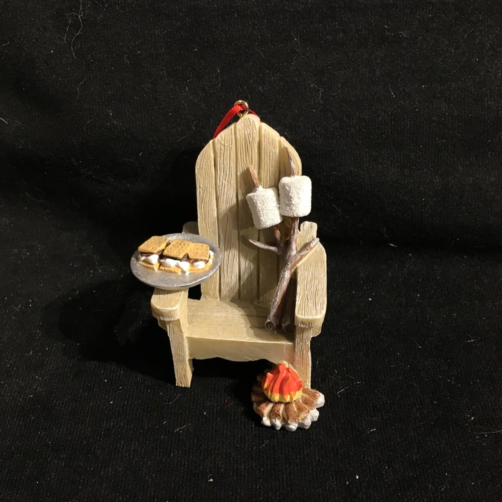 **Muskoka Chair w/S'More & Campfire Orn