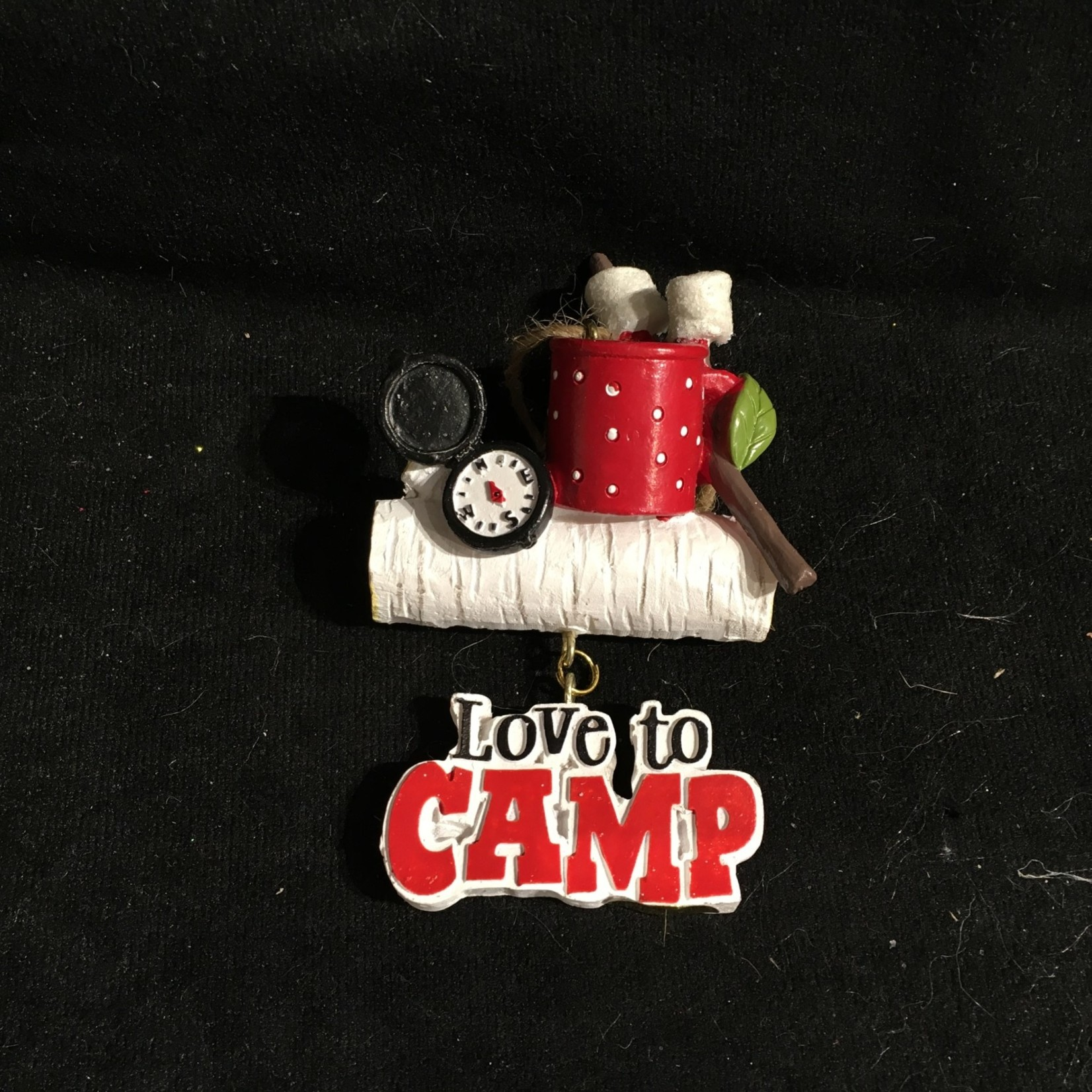 """""""Love to Camp"""" Sign Orn"""