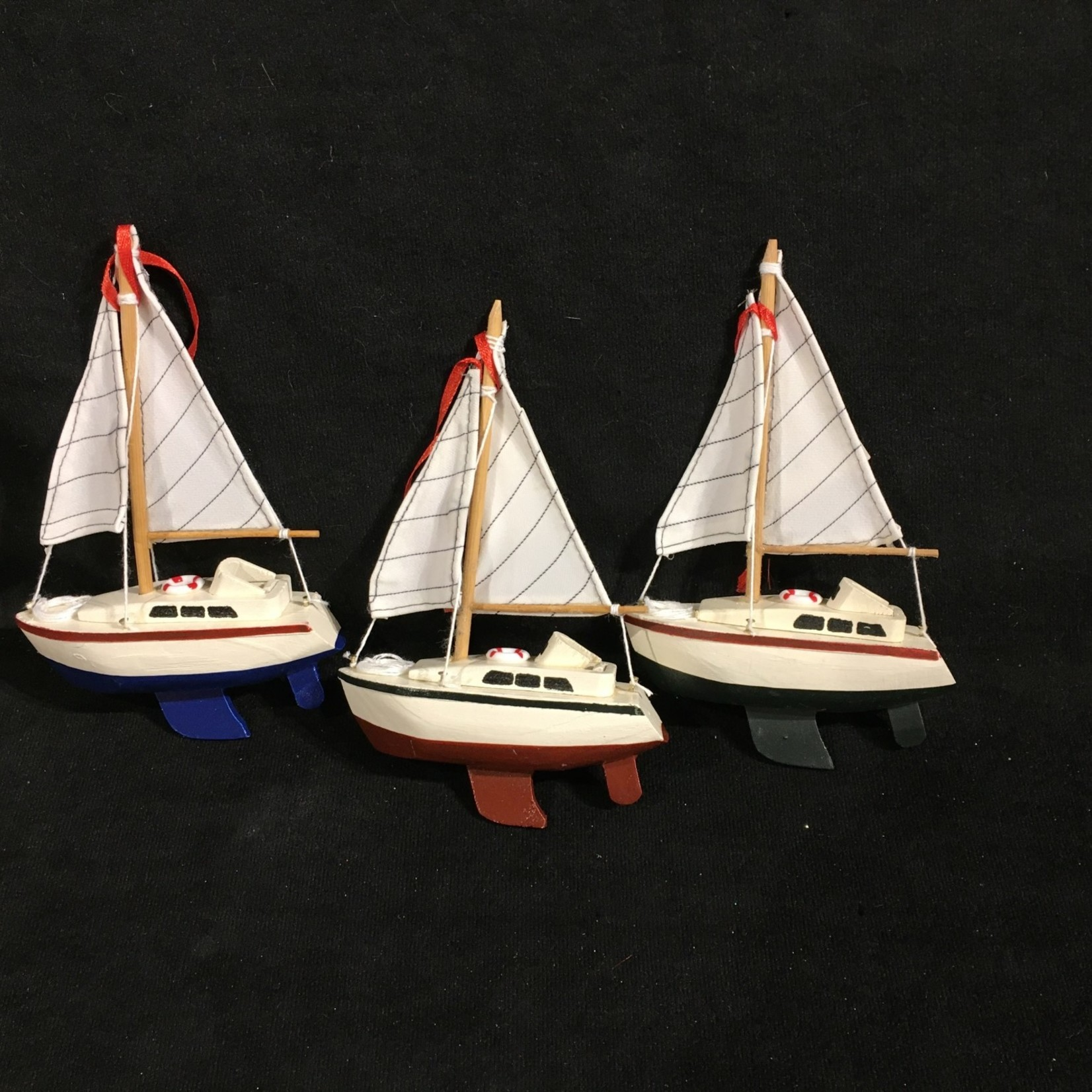 """6"""" Sailboat Ornament 3A"""