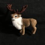 Furry Reindeer Ornament
