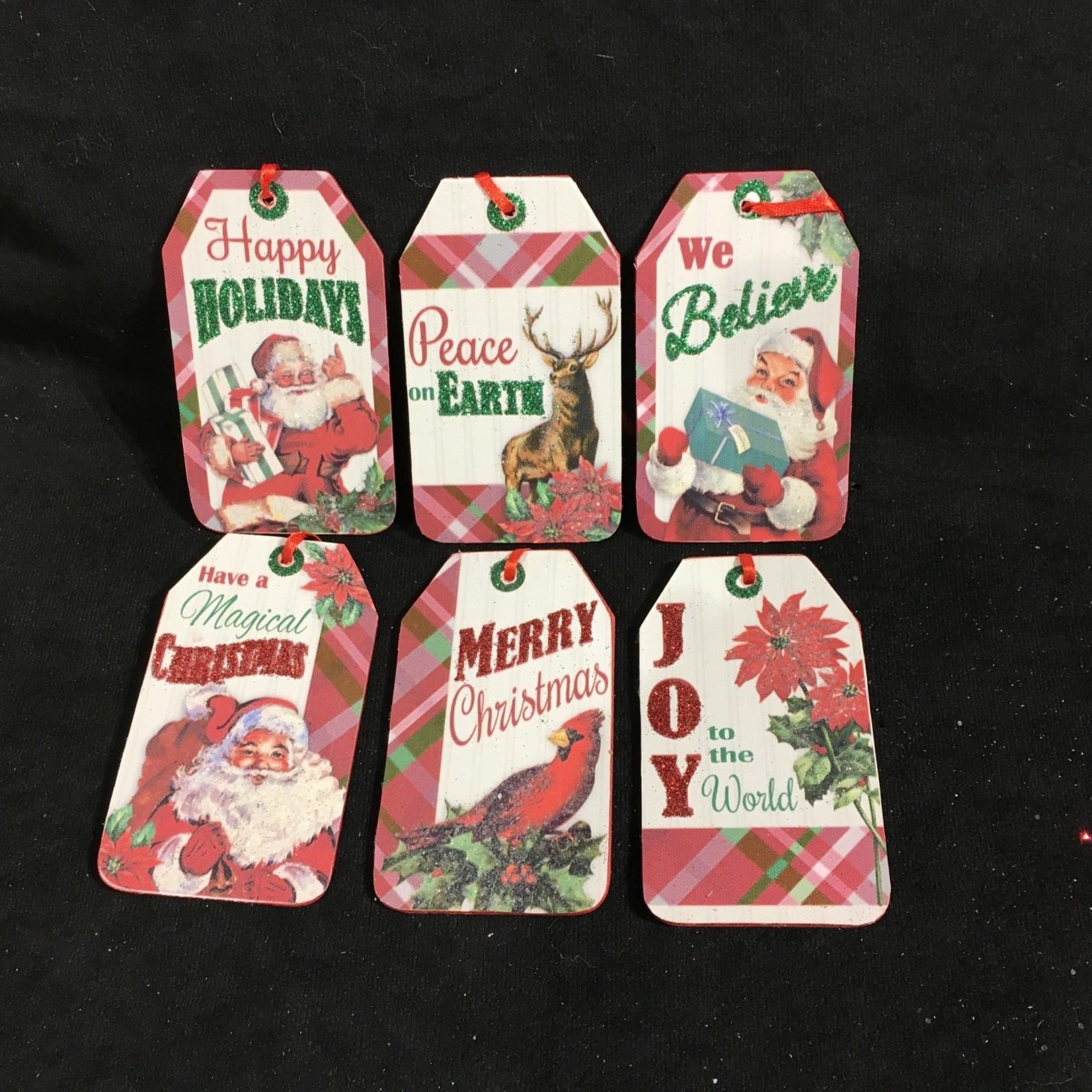 """4"""" Plaid Christmas Tag 6A"""