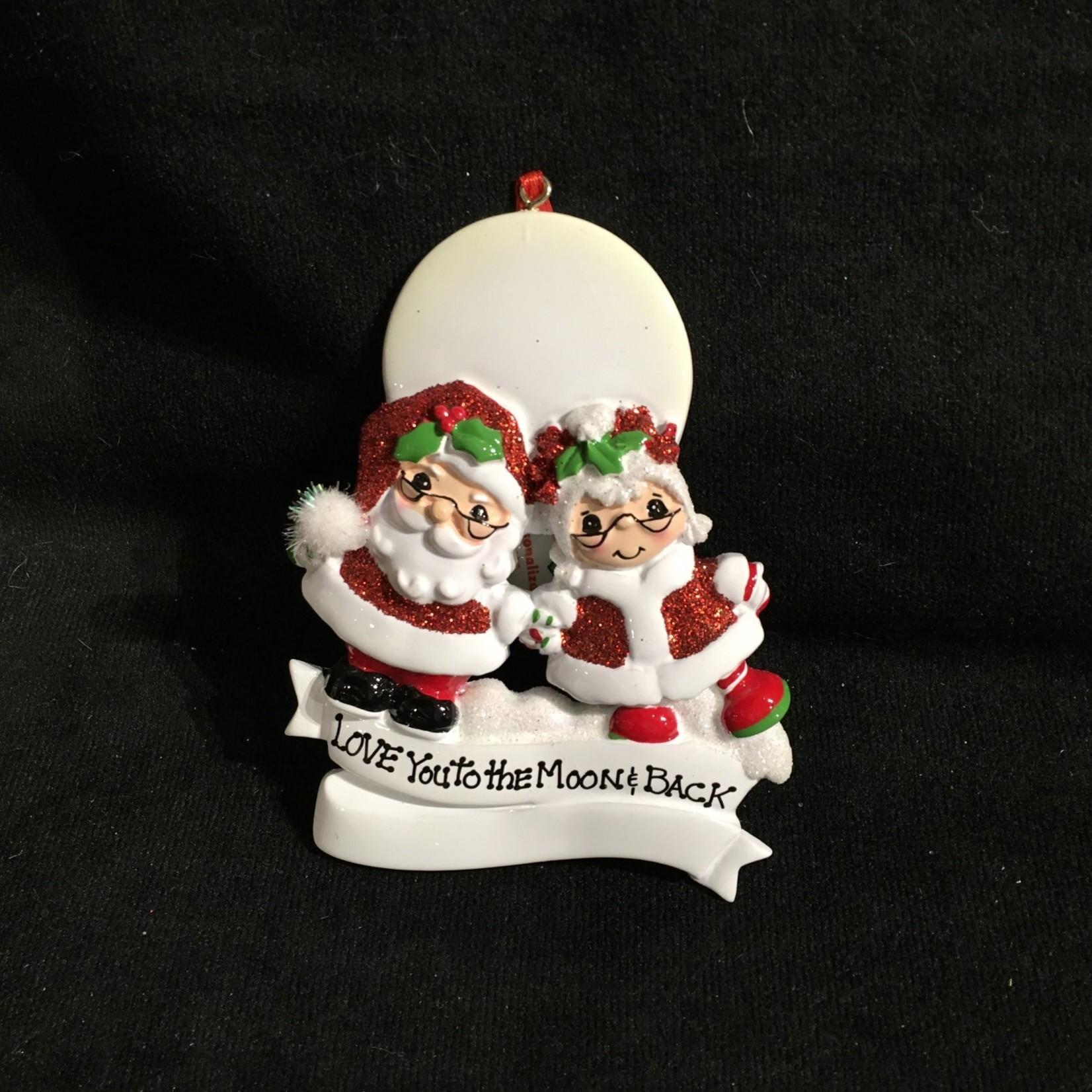 "Santa $ Mrs Claus ""Love to Moon"""