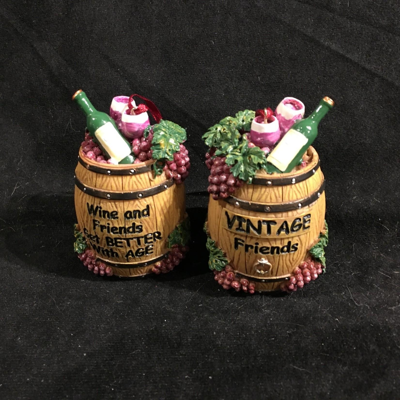 Wine Barrel w/Words Orn 2A