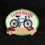 I Love Biking Ornament