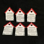 """5"""" Wooden House Orn w/Sentiment 6A"""