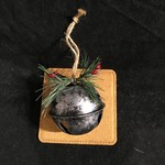 """2.5"""" Silver Metal Bell Ornament"""