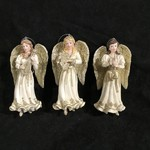 "5"" Platinum Angel Ornament 3A"