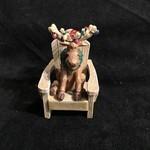 **Muskoka Chair w/Moose Orn.